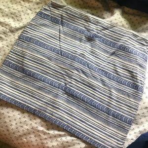 Gap purple striped mini skirt